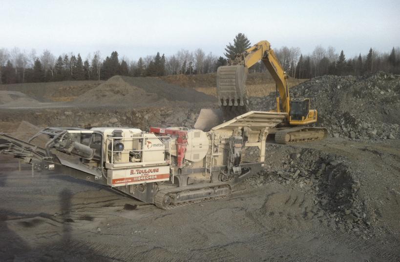 Service de concassage et tamisage mobile - Excavation R. Toulouse